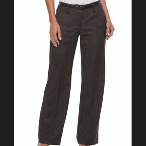 Women's Apt. 9® Belted Midrise Trouser Pants new